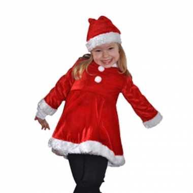 Fluwelen kinder kerstjurk kleding