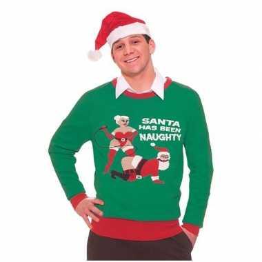 Foute Kersttrui Jongens.Foute Kersttrui Naughty Santa Kerstkleding Kopen Nl