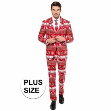 Grote maten heren kleding met kerstboom print