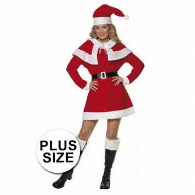 Kerstjurk kleding dames rood grote maat