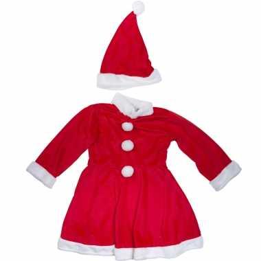 Kerstkleding verkleed kleding met muts voor meisjes
