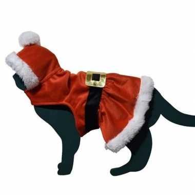 Kerstman kleding kleding voor kat/poes
