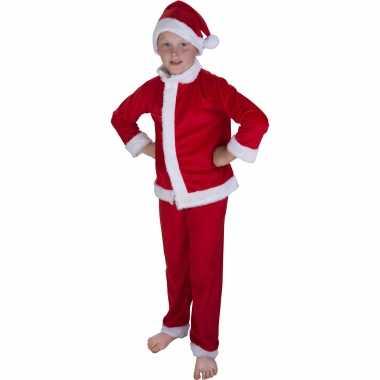 Kerstman verkleed kleding met muts voor kinderen