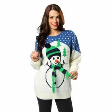 Foute Kersttrui Kopen Goedkoop.Kersttrui Met Sneeuwpop Voor Volwassenen Kerstkleding Kopen Nl