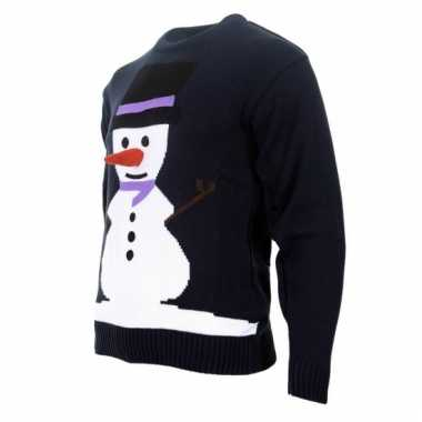 Kersttrui Poes.Kersttrui Sneeuwpop Met 3d Neus Kerstkleding Kopen Nl