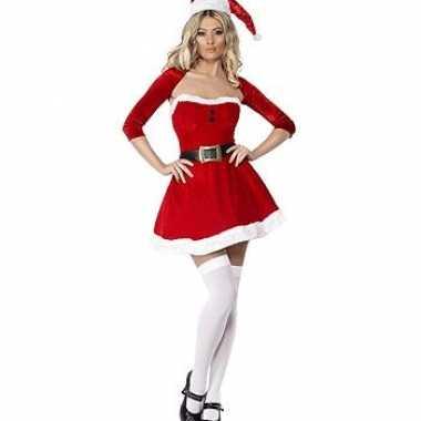 Kort kerstkleding met bolero