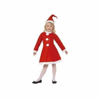Meisjes kerstkleding met muts