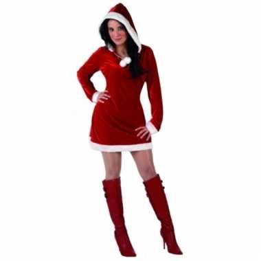 Miss santa kerstkleding met capuchon
