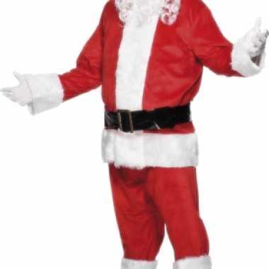 Mooie kerstman kleding van velours