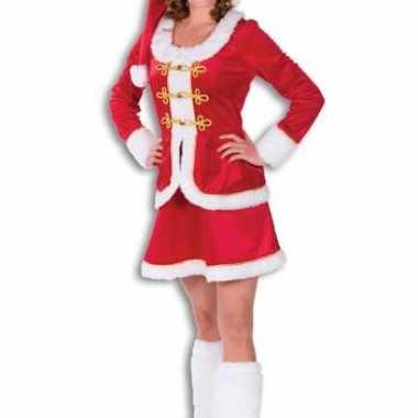 Mooie kerstvrouw kleding