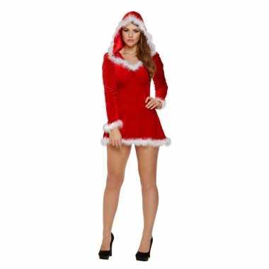 Sexy kerstkleding met capuchon voor dames