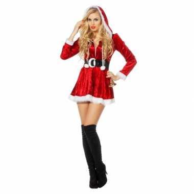Sexy kerstkleding met capuchon