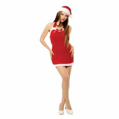 Sexy kerstvrouw kleding met kerstmuts voor dames