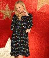 Dames kerstjurk kleding met kerstlichtjes